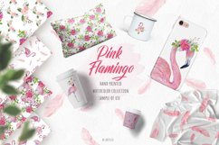 Pink Flamingo Seamless Patterns Product Image 2