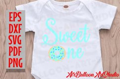 Donut Sweet One Svg Sweet One Blue Svg Donut Birthday Svg Product Image 2