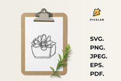 Flower pot - Flower plant - Flower clip art - House plant Product Image 4