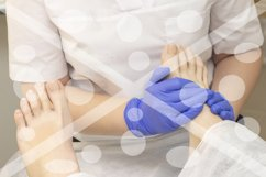Foot massage in spa salon, closeup. foot massage relax skin Product Image 1