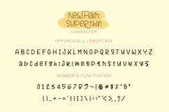 Newhair Super Thin - Single Line Font Product Image 2