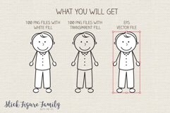 Stick Figure Family Clip Art Vector PNG SVG Product Image 3