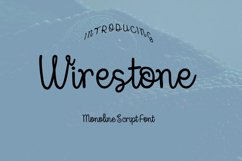 Wirestone Font Product Image 1