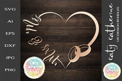 Wedding Love Heart Frame With Rings Bundle SVG Cut File Product Image 4