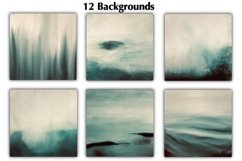 12 Dark Green Watercolor Ombre Backgrounds Product Image 3