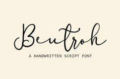 Beutroh   Handwritten Product Image 1