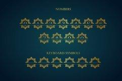 Diamond Mandala Monogram Split Font Duo Product Image 8