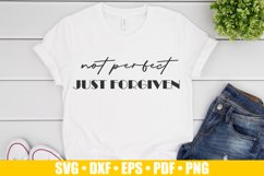 Not Perfect Just Forgiven SVG files for Cricut | Easter SVG Product Image 2