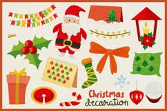 Christmas Decoration Vector Clipart Pack Product Image 2