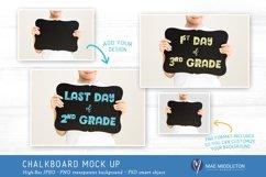 Child Holding Chalkboard Sign   Mockup for School, Milestone Product Image 2