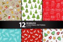 12 Seamless Christmas Patterns Product Image 3