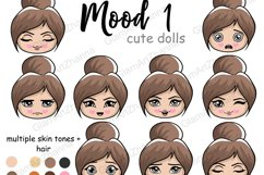 Mood 1 CUTE DOLLS Sweet Home Lady Boss Stickers PNG Files Product Image 1