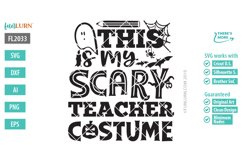 This is My Scary Teacher Costume SVG Cut File Product Image 2