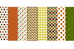 Autumn Pumpkin Digital Papers, Fall Leaves, Acorn Patterns Product Image 2