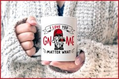 I Love You GNOME Matter What Valentines SVG, Biker Gnome SVG Product Image 4