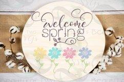 Farmhouse Spring SVG Round Svg Sign Bundle, 6 svg cut files Product Image 4