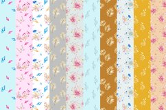 Butterflies and Crystals Seamless Patterns Bundle Product Image 2