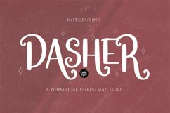 DASHER a Farmhouse Christmas Display Font Product Image 1