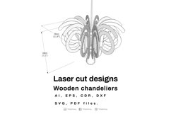 Wooden chandeliers - Laser cutting File Product Image 2