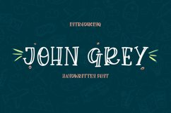 John Grey - a handwritten outline and filled font Product Image 1