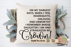 Daughter of a King, Straighten My Crown Christian svg dxf Product Image 4