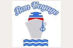 Bon Voyage - Machine Embroidery Design Product Image 1