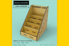 Business Card Holder - laser cut file Product Image 2