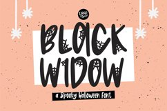 BLACK WIDOW a Webbed Halloween Font Product Image 1