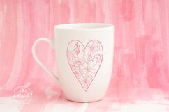 Valentines Love Heart with a Floral Pattern Product Image 5