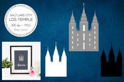 Salt Lake City LDS Temple Clipart - Utah Product Image 1