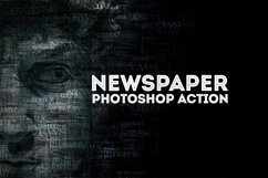 Newspaper Text Photoshop Action Product Image 2