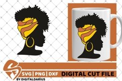 5x Black Woman Bundle SVG, Afro Girl svg, hair band SVG Product Image 3