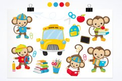 Monkey Students graphics and illustrations Product Image 2