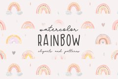 Watercolor Rainbow. Collection Patterns and Cliparts Product Image 1