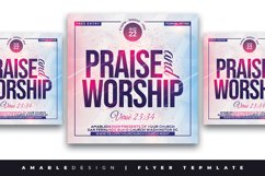 Praise and Worship Church Flyer Product Image 1