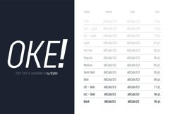 OKE! Sans Family with Variable Fonts Product Image 2