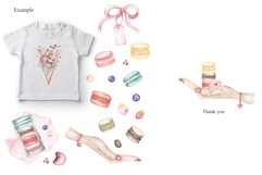 Watercolor Macaron Clipart Product Image 3