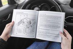 Square Soft Cover Book Car Scene Mockup Product Image 4