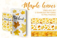 Maple leaves. JPG PNG. Product Image 1