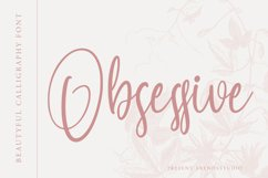 Obsessive - Beautiful Calligraphy Product Image 1