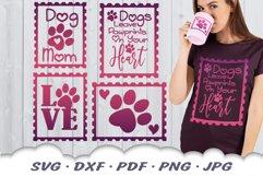 Dog Mom Postage Stamps SVG Bundle DXF Cut Files Product Image 1