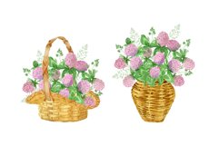 Watercolor wildflower clover. Wildflower clipart. St.Patrick Product Image 4