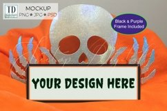Halloween Frame Mock Up / Picture Frame Mockup PNG, JPG, PSD Product Image 1