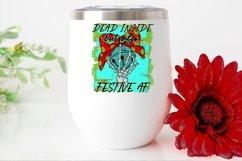 Dead inside but also festive AF|Skeleton Christmas Design Product Image 2