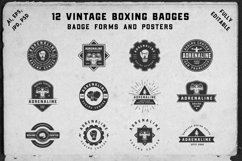 12 vintage boxing badges and forms Product Image 1