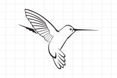 Hummingbird SVG Cut File Product Image 1