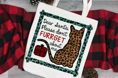 Christmas Cat Sublimation Design   Dear Santa Don't Furrget Product Image 2