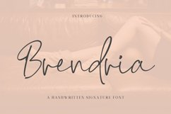 Brendria - Signature Font Product Image 1