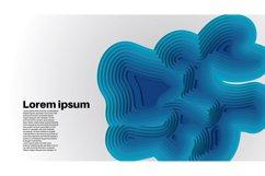 set bundle vector background . wave design illustration Product Image 5