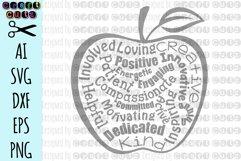 Teacher Apple svg, Teacher Gift Cut File, Apple Cut File Product Image 2